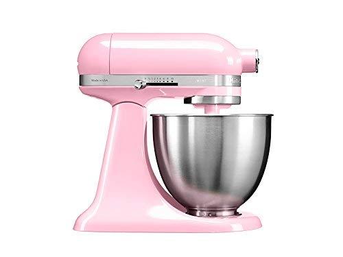 KitchenAid Mini - Robot de cocina (3,3 L, Rosa, palanca, 200 RPM, 1,219 m, CC)