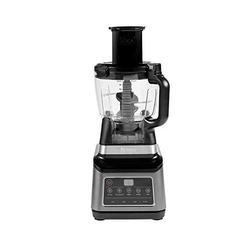 Ninja BN800EU Procesador de Alimentos 3-en-1 conAuto-iQ, 1.8 l, Jarra de 2.1 l, Vaso de 0.7 l, 1200 W, 2.1 litros, Tritan/BPA Free Plastic, 3 Velocidades, Negro/Plata