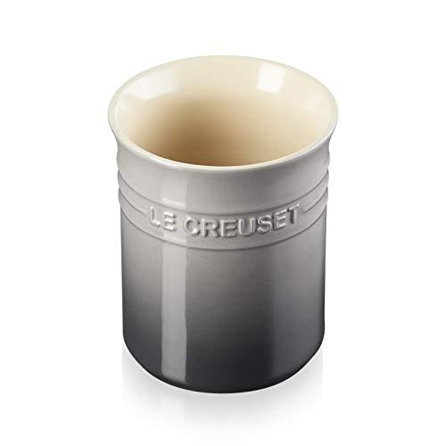 Le Creuset Bote para espátulas, 1.1 L, Cerámica de gres, Gris Flint