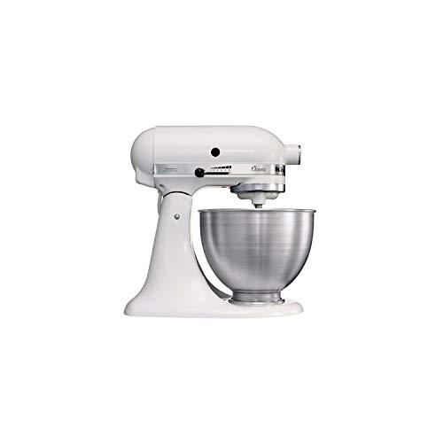 Kitchenaid 5K45SSEWH Serie Classic - Batidora amasadora multifunción, color blanco