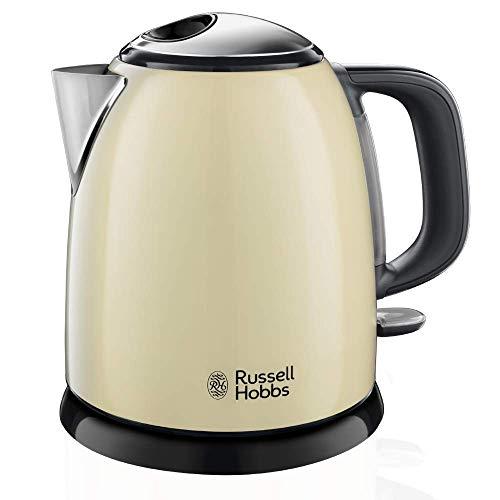 Russell Hobbs Colours Plus - Hervidor de Agua Eléctrico Pequeño (2400 W, Hervidor de 1l, Kettle Inox, Crema) - ref. 24994-70
