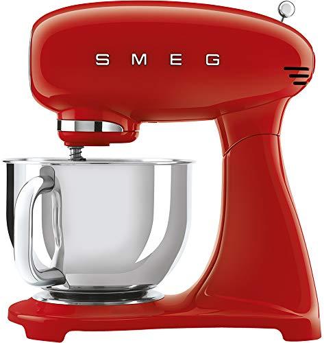 Smeg Robot De Cocina Smf03rdeu 800w 10 Velocidades, 800 W, Acero inoxidable, Aluminio, Rojo