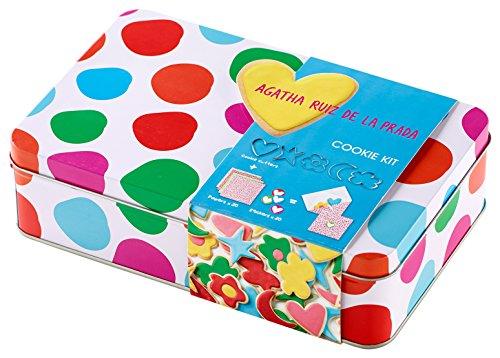 Lékué Kit Cookies Topos, Acero Inoxidable, Multicolor, 0 cm, 5 Unidades