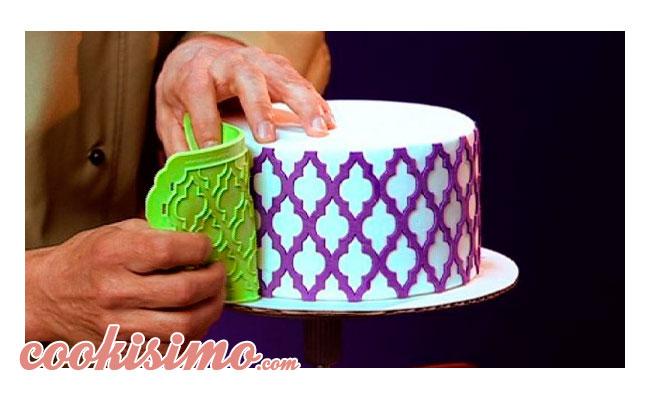 Plantillas de silicona Onlays para decorar tartas