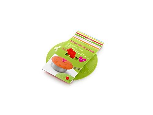 Lékué Tapa de succión Flor, 10,5 cm, Silicona, Verde, 10.5 cm