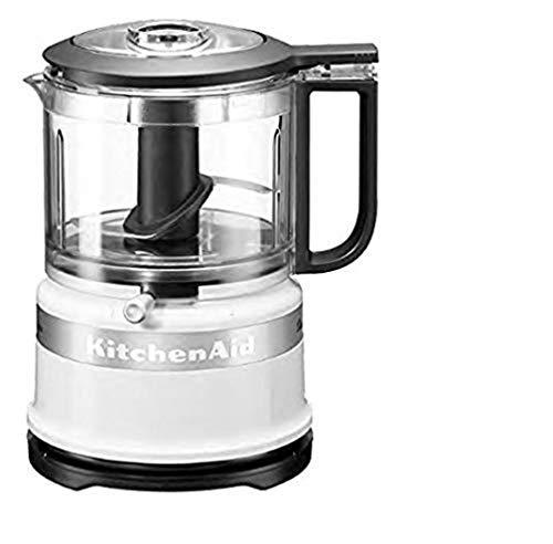 KitchenAid 5KFC3516EWH MINI PROCESADOR DE ALIMENTOS, 240 W, 0.83 litros, 1 Decibelios, Acryl, Blanco
