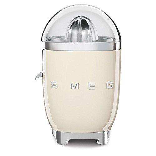 SMEG Exprimidor CJF01CREU, 70 W, Acero Inoxidable, Crema